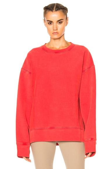 YEEZY Season 3 Diagonal Fleece Sweatshirt in Fluoro Red