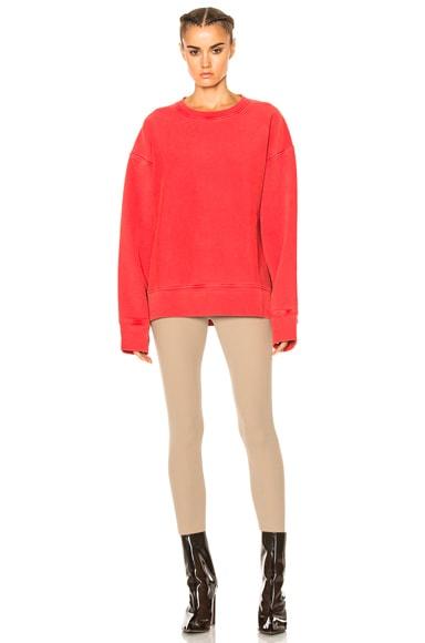 Diagonal Fleece Sweatshirt