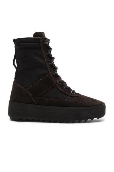 YEEZY Season 3 Suede Military Boots in Onyx Tame