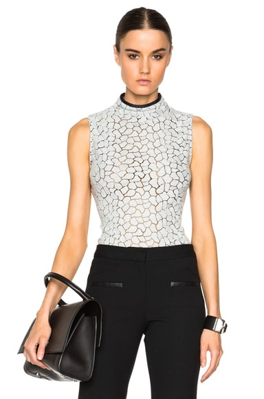 Yigal Azrouel Turtleneck Top in Grey