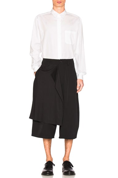 Drop Cloth Gabardine Shorts
