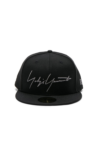Yohji Yamamoto Logo Cap in Black