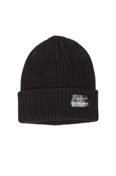 Yohji Yamamoto Rib Knit Cap in Black