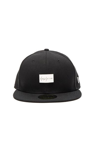 Yohji Yamamoto Plate Logo Cap in Black