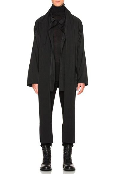 Yohji Yamamoto Stole Gabardine Jacket in Black
