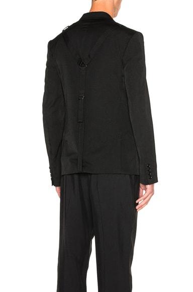 Yohji Yamamoto Bandage Back Blazer in Black