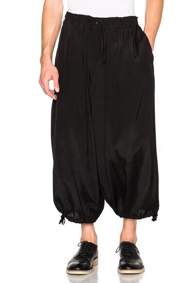 Yohji Yamamoto Rye Ette Balloon Pants in Black