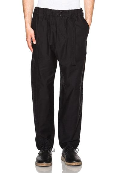 Yohji Yamamoto Belted Pants in Black