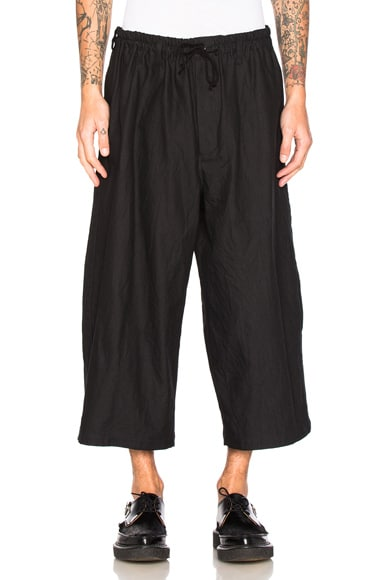 Side Tape Wide Elastic Trousers