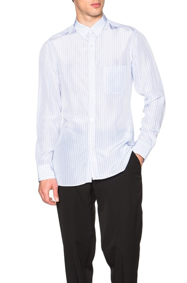 Yohji Yamamoto Shoulder Gather Button Down in Light Blue