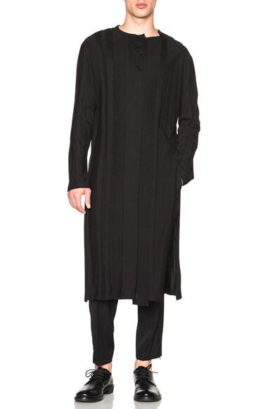 Yohji Yamamoto Shankar Vertical Joint Top in Black
