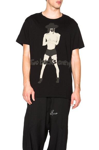 Yohji Yamamoto Two Bucks Tee in Black
