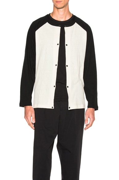 Yohji Yamamoto Dot Button Shirt in Off White
