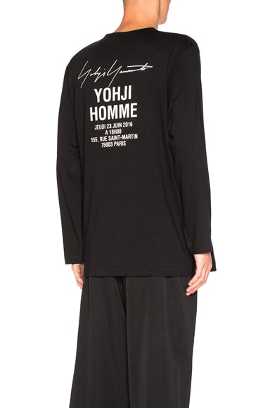 Yohji Yamamoto Staff Tee in Black
