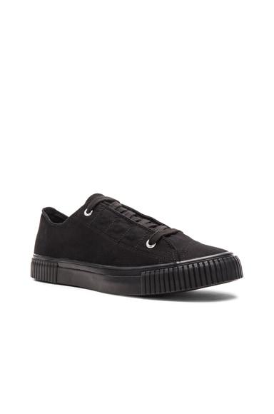 Yohji Yamamoto Canvas Fly Lowcut Sneakers in Black