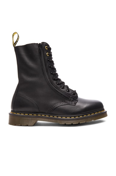 x Dr. Martens Oiled Leather Zip Boots