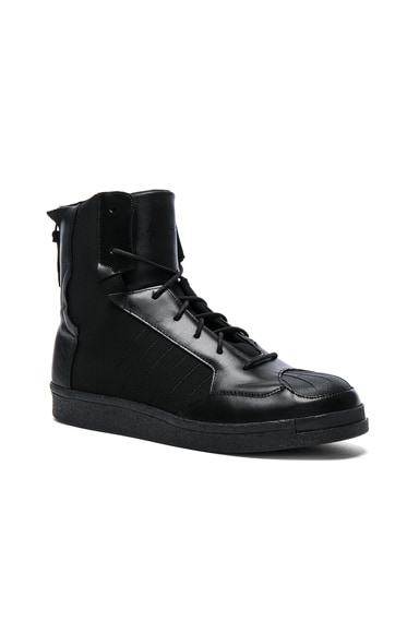 Yohji Yamamoto Neoprene Punk Superstar Sneakers in Black