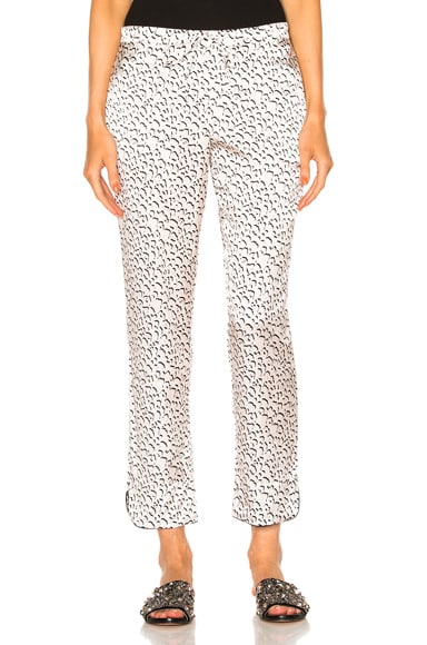 YOLKE Leopard Tapered Pant in Macaroon