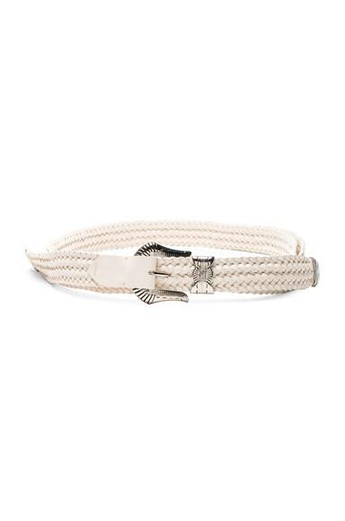 Y Project Belt in Ecru & Silver
