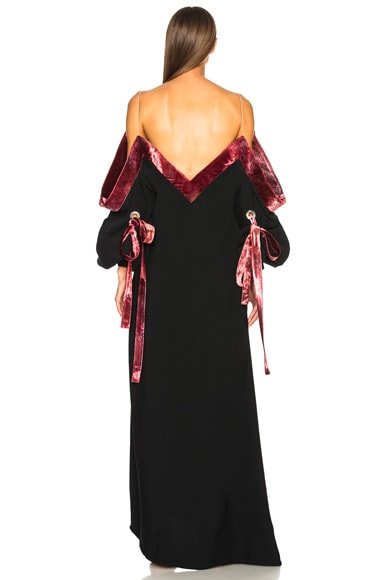for FWRD Velvet Dress with Bow Detail