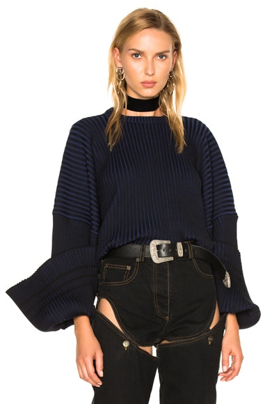 Ribbed Oversized Knit Sweater