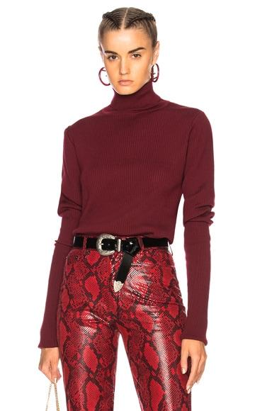 Asymmetrical Sleeve Turtleneck Sweater
