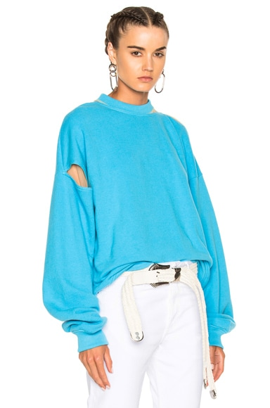Y Project Cut Out Sweater in Blue