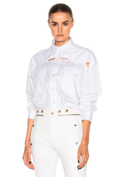 Y Project Oversized Button Down Shirt in White