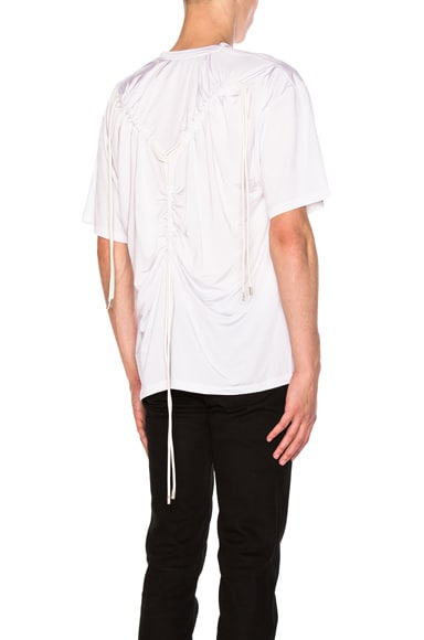 Y Project Ruching Y Tee in White
