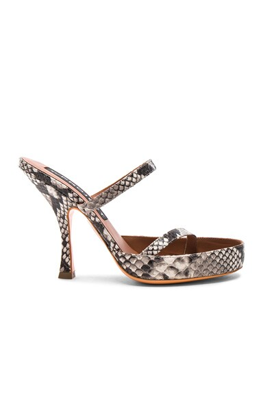 Snakeskin Embossed Sitre Spirale Sandals