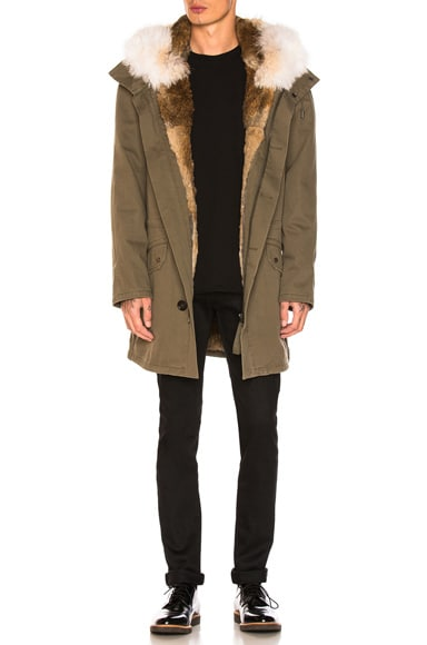 Cotton Parka with Rabbit and Coyote Fur