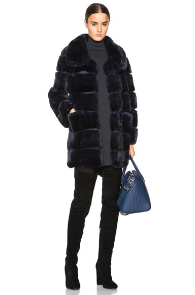 Long Rex Fur Coat