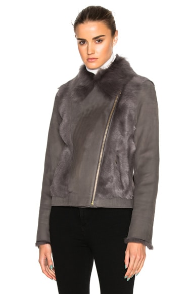 Toscane Shearling Moto Jacket