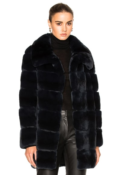 Long Rex Rabbit Fur Coat