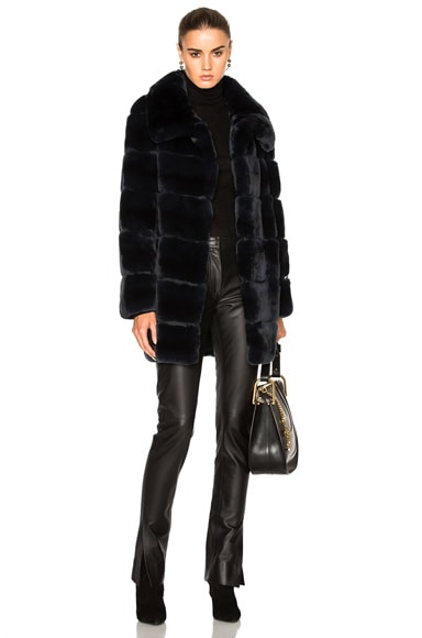 Long Rex Rabbit Fur Coat