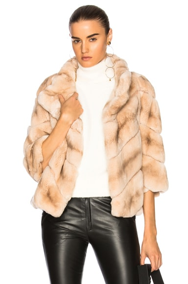 Rabbit Fur Quarter Sleeve Jacket