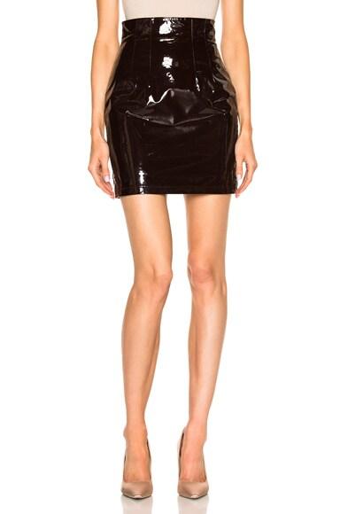 High Waisted Leather Mini Skirt Zeynep Arcay