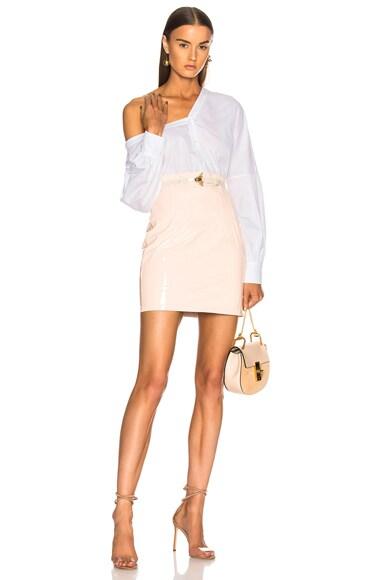 Patent Leather Mini Skirt