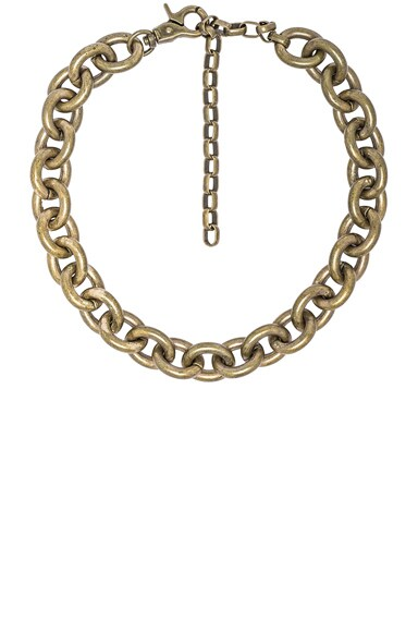 Zimmermann Link Chain Necklace in Antique Brass