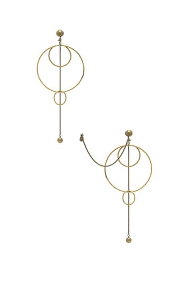 Zimmermann Suspended Link Earrings in Antique Brass