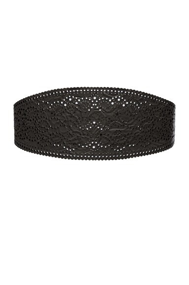 Zimmermann Cut Filigree Belt in Black