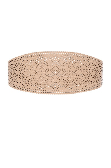 Zimmermann Cut Filigree Belt in Nude