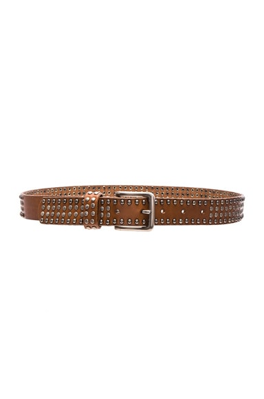 Zimmermann Classic Stud Embellished Belt in Tan