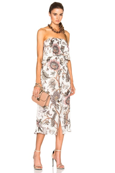 Karmic Strapless Flounce Dress