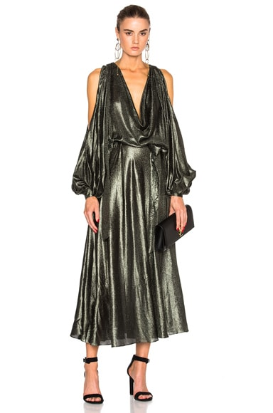 Karmic Metallic Billow Dress