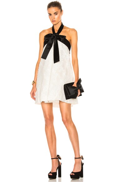 Zimmermann Winsome Suspend Bow Dress in Pearl