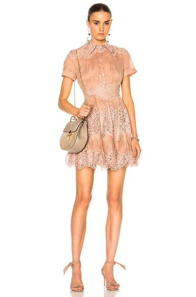 Zimmermann Winsome Sunday Dress in Mink