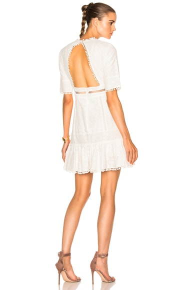 Zimmermann Caravan Embroidered Flip Dress in Ivory
