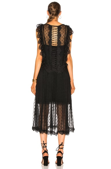 Oleander Lattice Back Dress