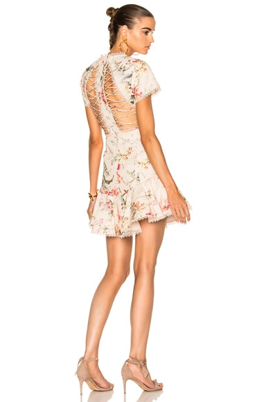 Zimmermann Mercer Flutter Dress in Cream Floral
